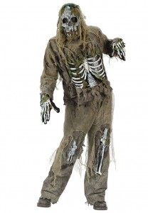 Scary Skeleton Zombie Costume